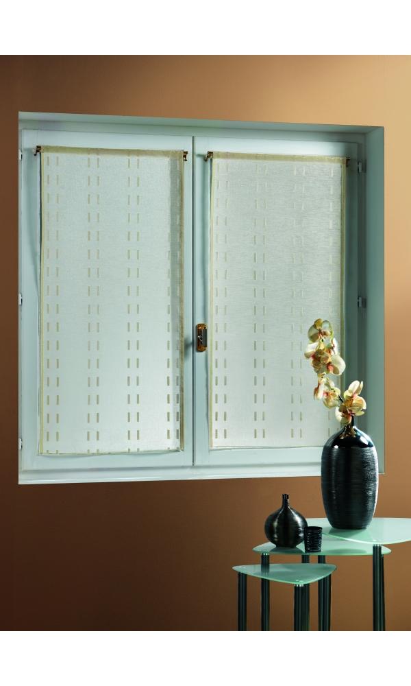 fenstergardine mit streifen blau erdbeere taupe terrakotta homemaison vente en. Black Bedroom Furniture Sets. Home Design Ideas