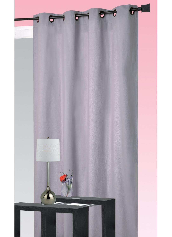 rideau coton uni oeillets lilas vert rubis homemaison vente en ligne rideaux. Black Bedroom Furniture Sets. Home Design Ideas