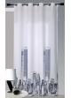 Cortina en Bachette dibujo 'New York' Blanco