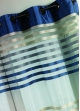 Voilage Bouchara en Organza Rayé  Bleu