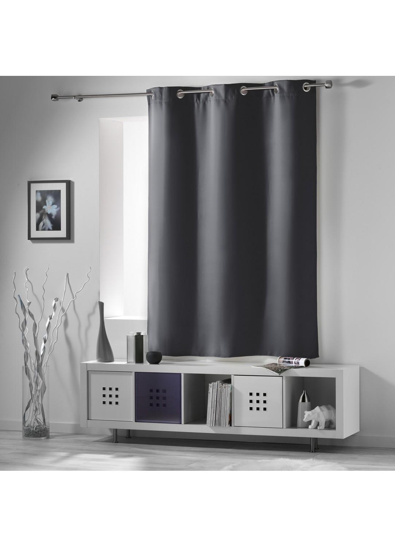 rideau occultant radiateur petite hauteur ardoise drag e neige perle noir ivoire. Black Bedroom Furniture Sets. Home Design Ideas