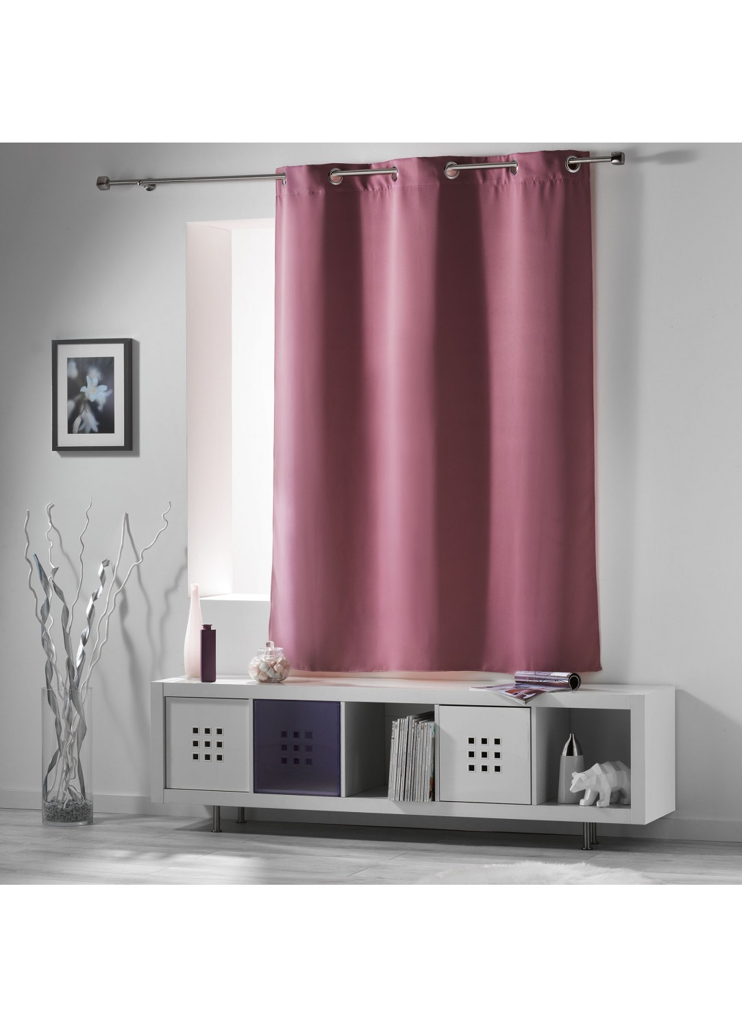 rideau occultant radiateur petite hauteur drag e neige. Black Bedroom Furniture Sets. Home Design Ideas