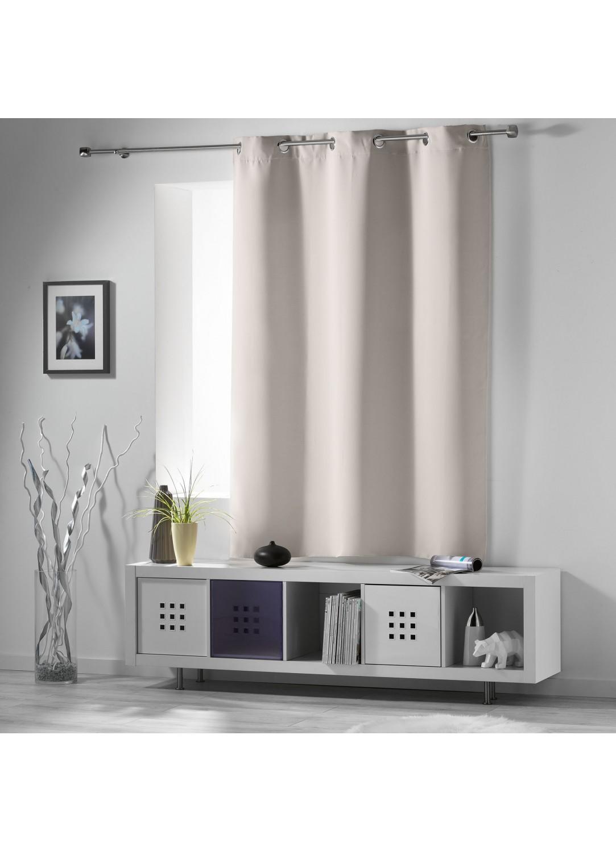rideau occultant radiateur petite hauteur ivoire drag e neige perle ardoise noir. Black Bedroom Furniture Sets. Home Design Ideas
