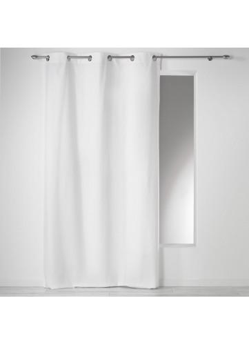 Rideau à illets 100 % coton 'Panama' - Blanc - 140 x 240 cm