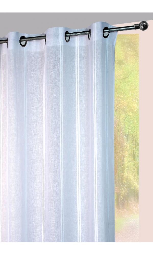 Visillo a rayas verticales sarga tono sobre tono