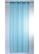Voilage naturel à rayures verticales  bleu azur
