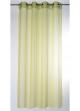 Voilage naturel à rayures verticales  Vert Anis