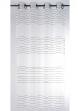Voilage transparent à fileté horizontal  blanc / noir