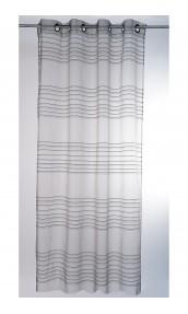 Visillo transparente fileteado horizontal