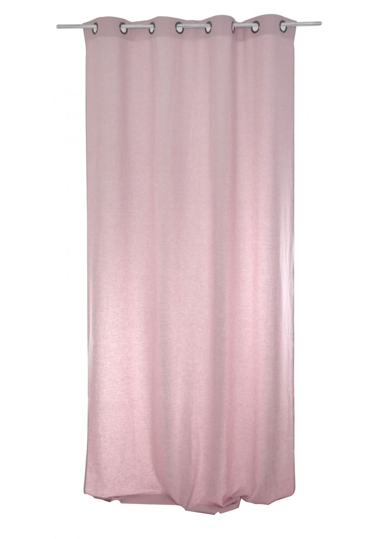 rideau uni en lin rose poudre bleu poudr vert poudre bleu marine gris b ton. Black Bedroom Furniture Sets. Home Design Ideas