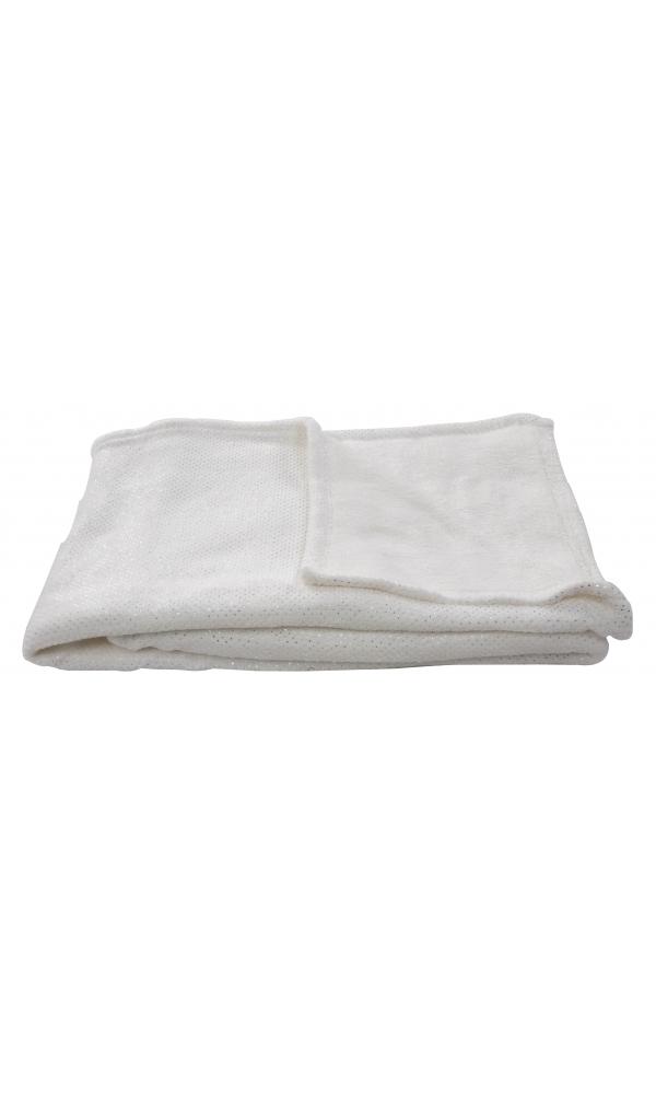 Plaid à paillettes Disco - blanc cassé - 130 x 150 cm