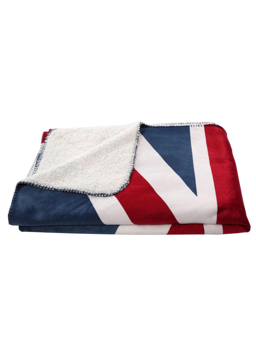 plaid union jack toucher polaire rouge blanc et bleu homemaison vente en ligne couvertures. Black Bedroom Furniture Sets. Home Design Ideas
