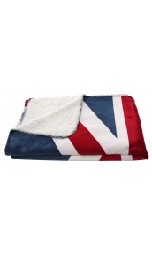 PLAID UNION JACK TOUCHER POLAIRE