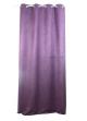 Rideau uni en suédine   violet et prune
