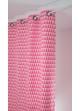 Rideau en jacquard à imprimés triangulaires   rose et blanc