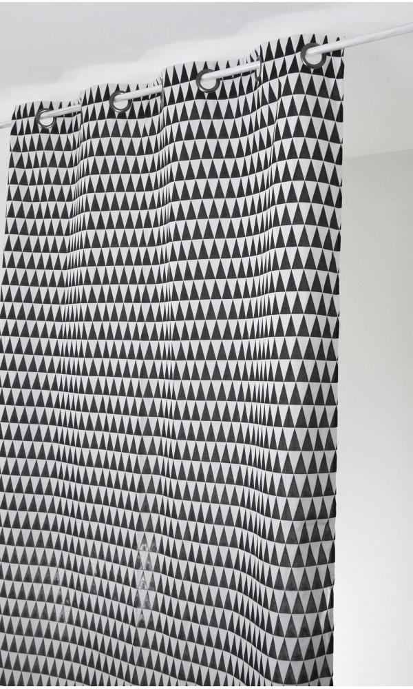 Cortina en jacquard estampados triangulares
