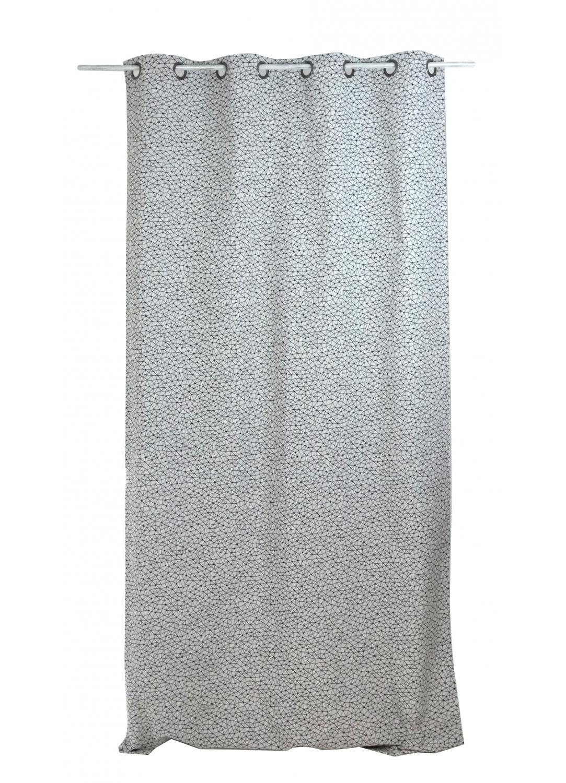 Rideau graphique en jacquard (noir et blanc)
