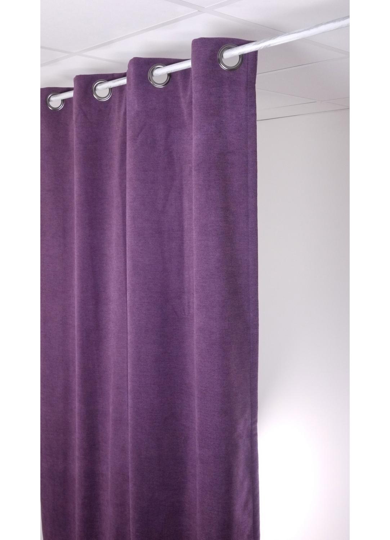 rideau isolant et occultant uni prune bleu oc an blanc nacr gris souris noir. Black Bedroom Furniture Sets. Home Design Ideas
