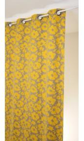 Rideau en jacquard à imprimés fleuris et colorés