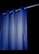 Rideau Coton Uni 'Pipa'  Bleu Marine