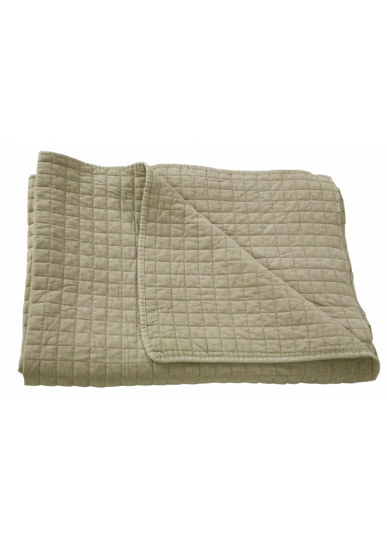 Jeté de lit matelassé deux places avec taies assorties (Beige)