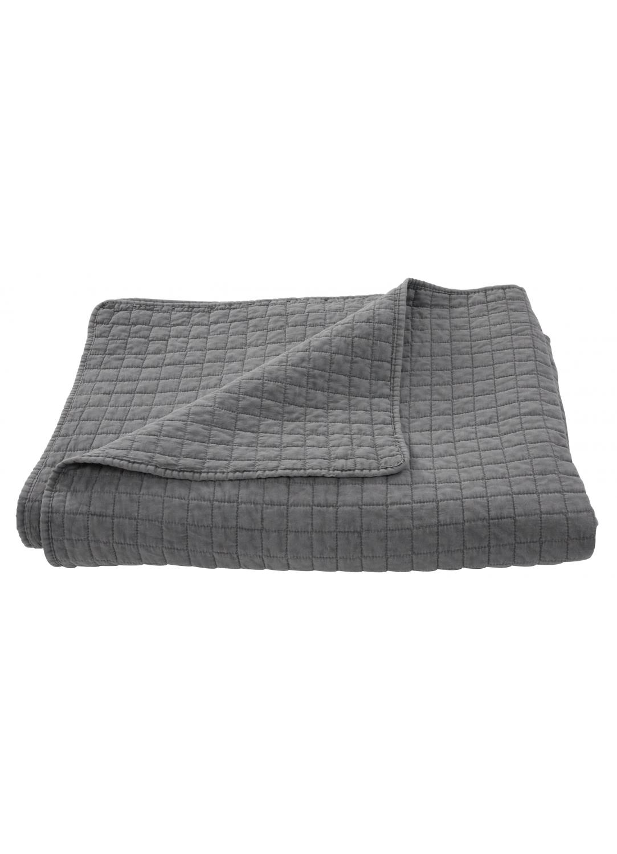 jet de lit matelass deux places avec taies assorties gris bleu gris ficelle beige. Black Bedroom Furniture Sets. Home Design Ideas