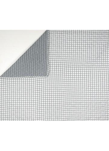 Plaid en Boutis à Motifs Géométriques - Blanc et Gris - 180 x 240 cm