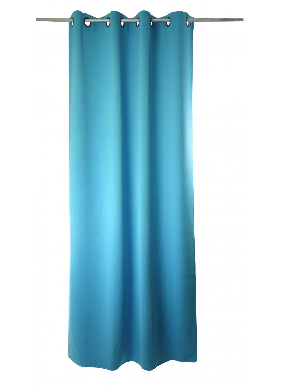 paire de rideaux 80 occultant lola bleu clair vert. Black Bedroom Furniture Sets. Home Design Ideas