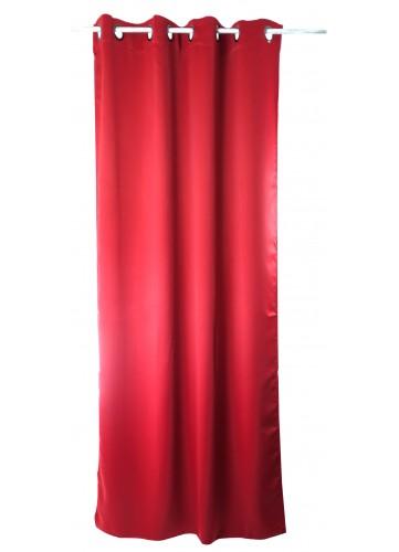 Paire de rideaux 80 % occultant 'Lola' - Rouge - 140 x 240 cm