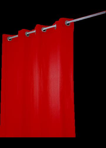 Rideau Coton Uni 'Pipa' - Rouge - 140 x 240 cm