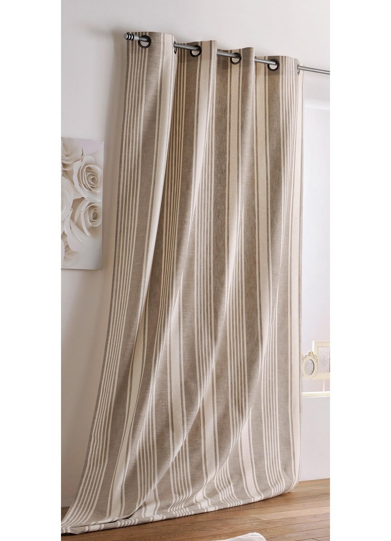 rideau rayures verticales en coton ficelle et cru cru et ficelle homemaison vente. Black Bedroom Furniture Sets. Home Design Ideas