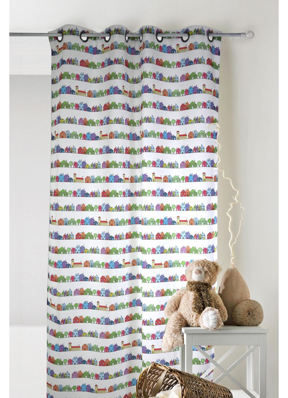 Rideau pour enfant à imprimés colorés (Multicolore)