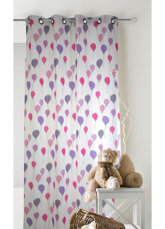 rideau pour enfants imprim s petits ballons rose bleu homemaison vente en ligne rideaux. Black Bedroom Furniture Sets. Home Design Ideas