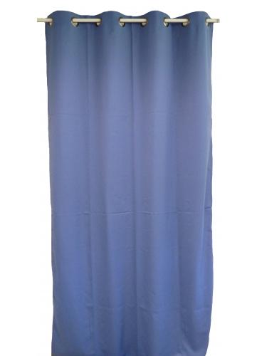 Rideau uni en toile souple Ignifugé M1 (Bleu)