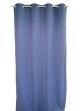 Rideau uni en toile souple Ignifugé M1  Bleu