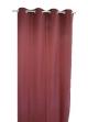 Rideau uni en toile souple Ignifugé M1  Bordeaux