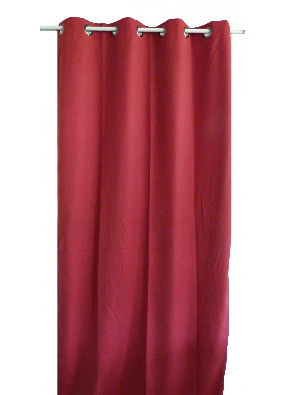 rideau uni en toile souple ignifug 233 m1 lie de vin outre mer noir bordeaux