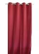Rideau uni en toile souple Ignifugé M1  Rouge