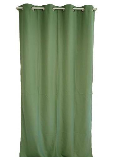 Rideau uni en toile souple Ignifugé M1 (Vert)