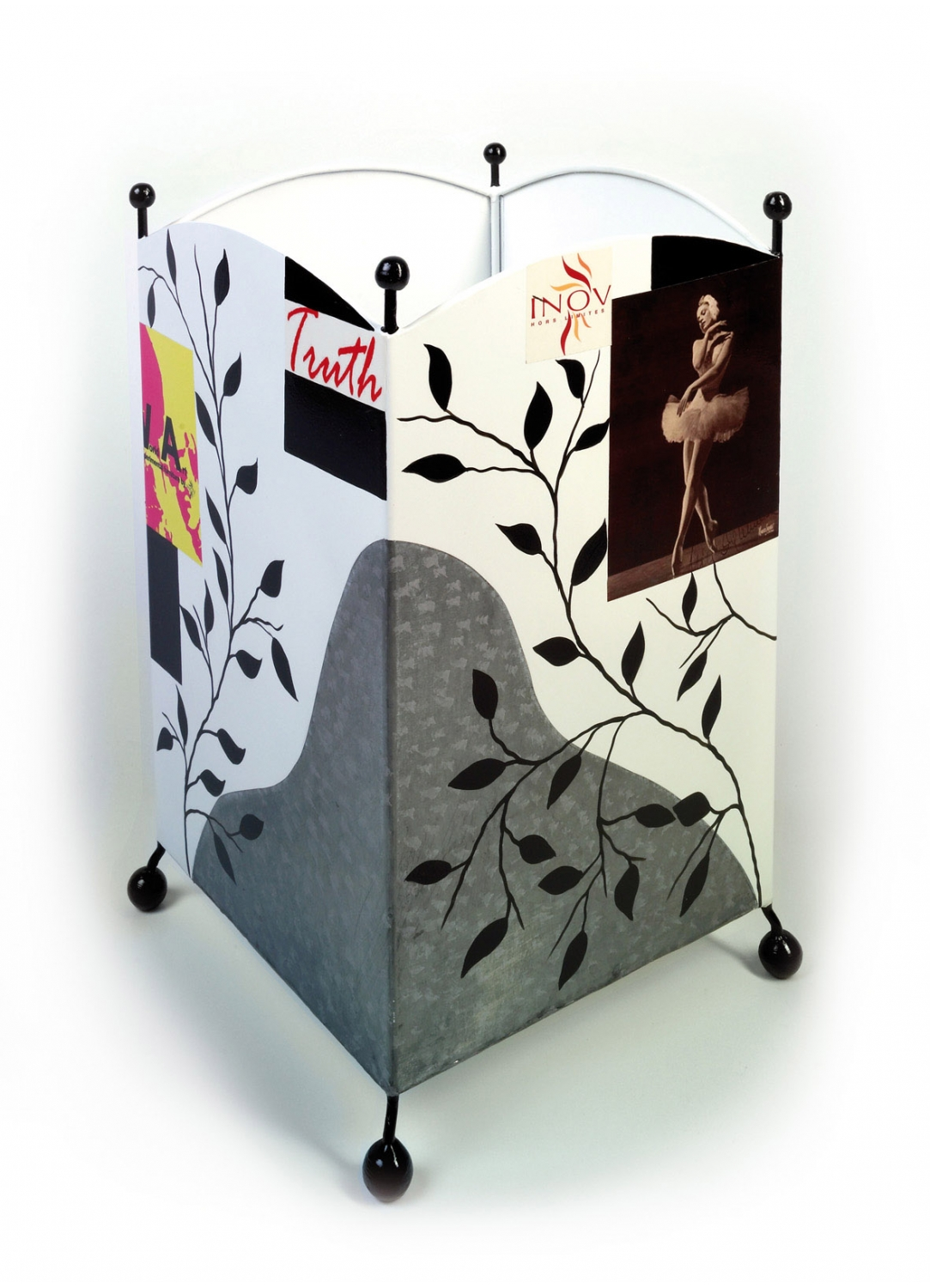 corbeille papier m tal homemaison vente en ligne rideaux voilages stores coussins. Black Bedroom Furniture Sets. Home Design Ideas