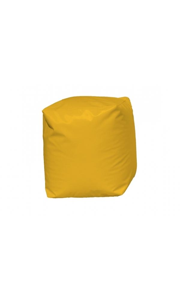 Pouf Cube Jaune (Jaune)
