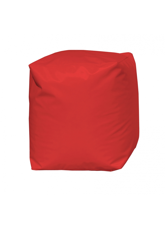 Pouf Cube Rouge (Rouge)