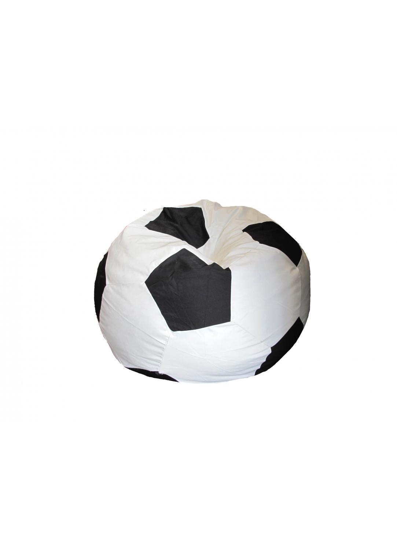 Pouf façon Ballon de Foot (Noir / Blanc)