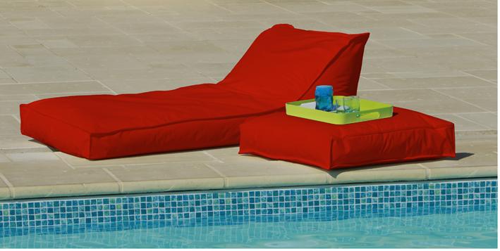 Matelas Bain de Soleil Rouge - Rouge - 165 X 73 cm