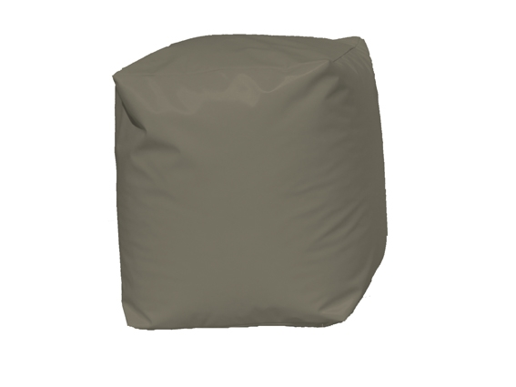 Pouf Cube Taupe (Taupe)