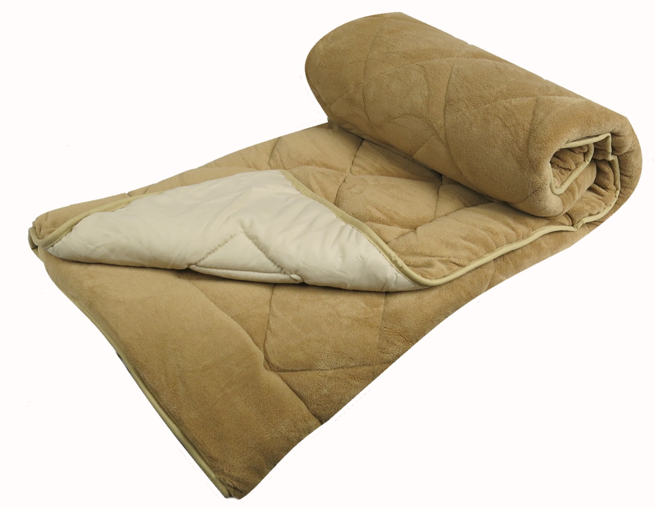 Couvre lit Veloura Boutis piqué sherpa 90grs - BEIGE/CREME - 180X220