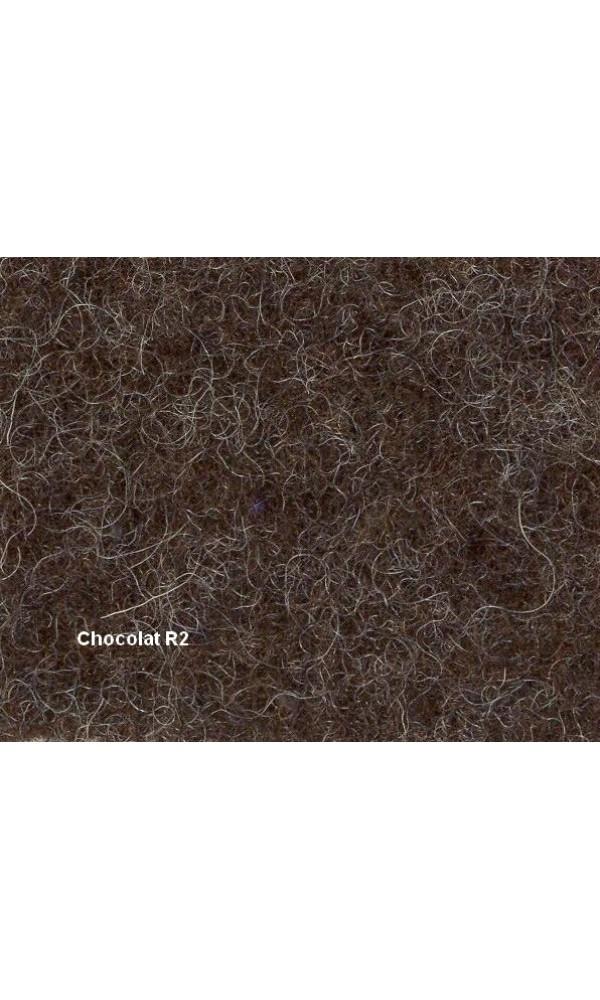 Couverture Pure Laine Vierge 600g/m2 bicolore - Chocolat - 180 x 220 cm