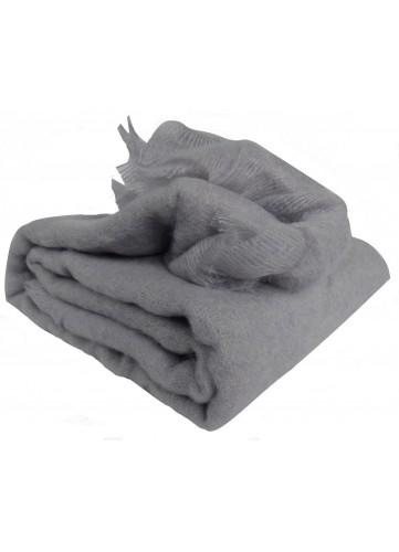 Couverture en 100 % pure Mohair 320g/m2 - Gris - 220 x 240 cm. Vendu à l'unité,Cette couverture est en matière 100 % Mohair fabri