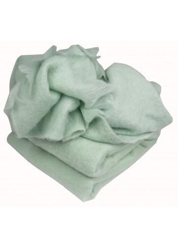 Couverture en 100 % pure Mohair 320g/m2 - vert pâle - 220 x 240 cm. Vendu à l'unité,Cette couverture est en matière 100 % M