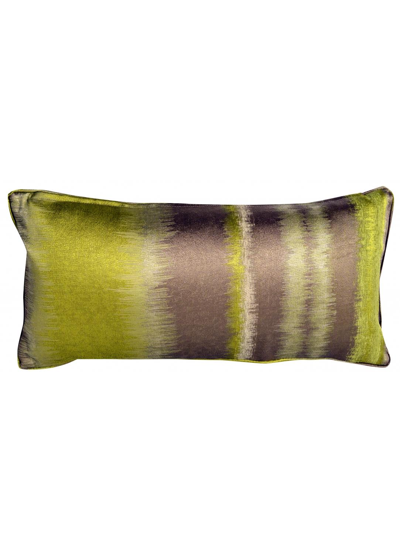 Coussin rectangulaire avec frise bambou bleu gris for Housse de coussin 30x60